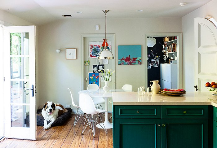 kitchen Katie Tarses bohemian design Spanish-Style Hollywood Hills Home