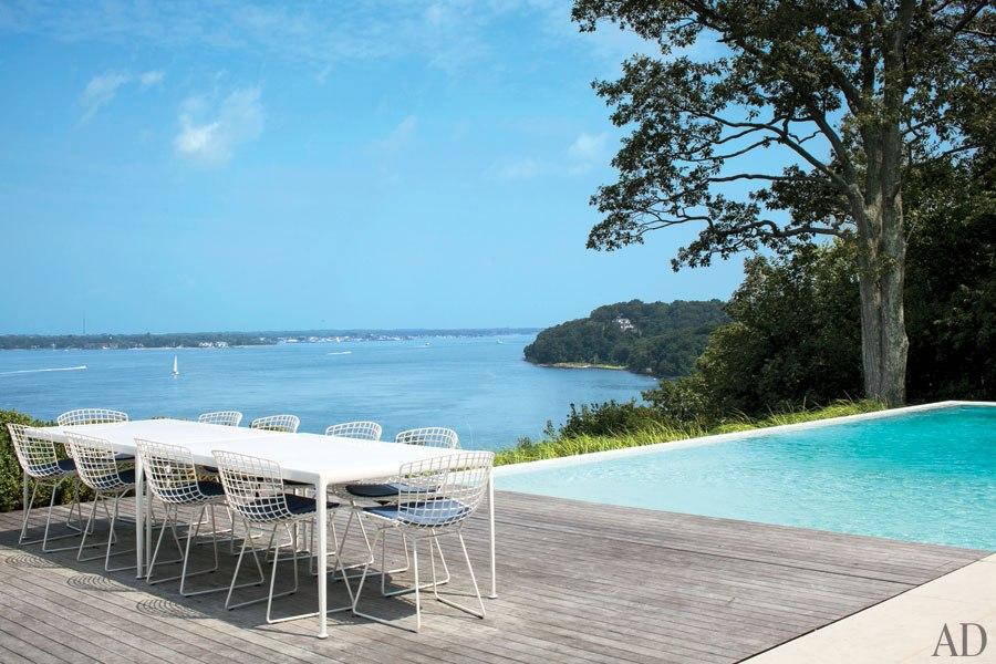 Shelter Island Beach House Richard Schultz Table Deck Pool