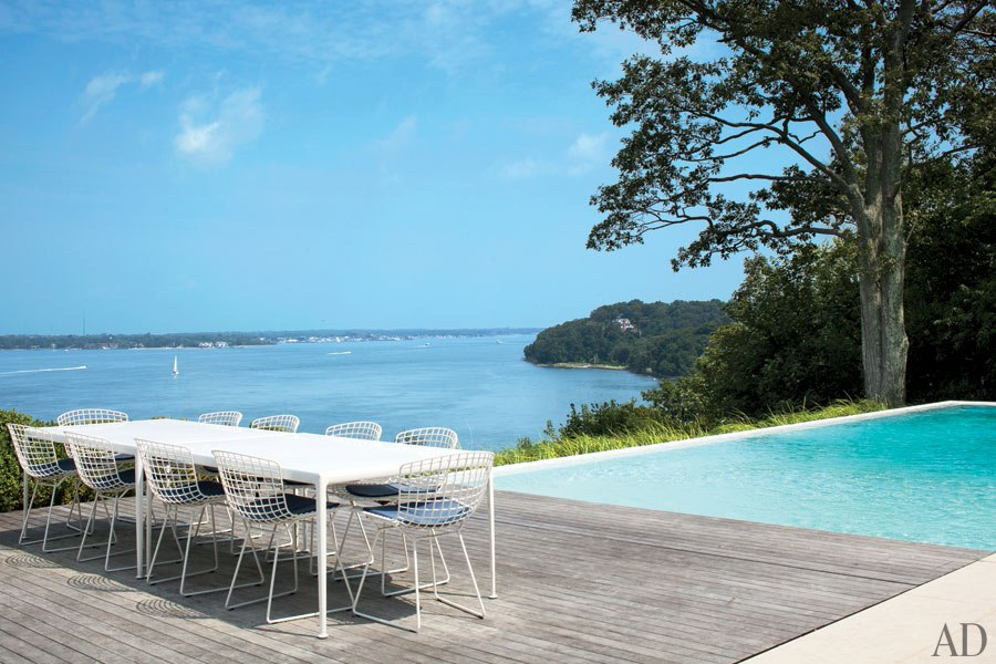 shelter island beach house-richard-schultz-table-deck-pool
