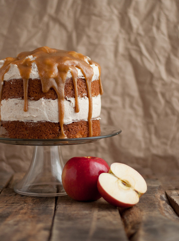 9 Fall-ready apple desserts: apple cake with cinnamon whipped frosting
