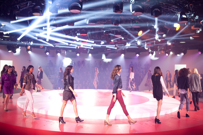 Target fashion show fall tailored look models