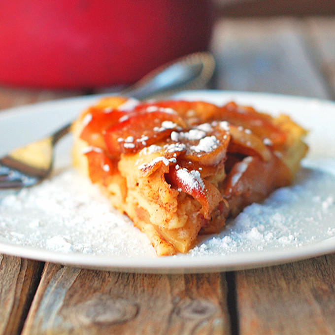 9 Fall-ready apple desserts: Baked Apple Pancake with Apple Cider Syrup