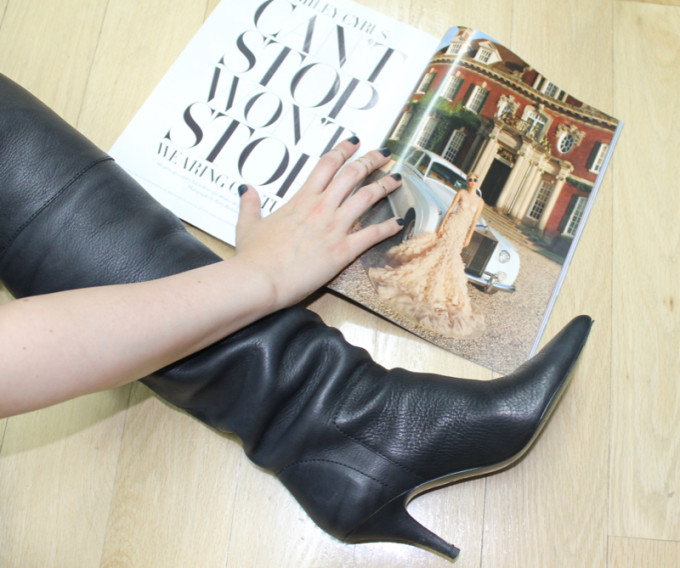 gold midi rings over-the-knee boots giveaway miley cyrus can't stop magazine _ glitterinc.com