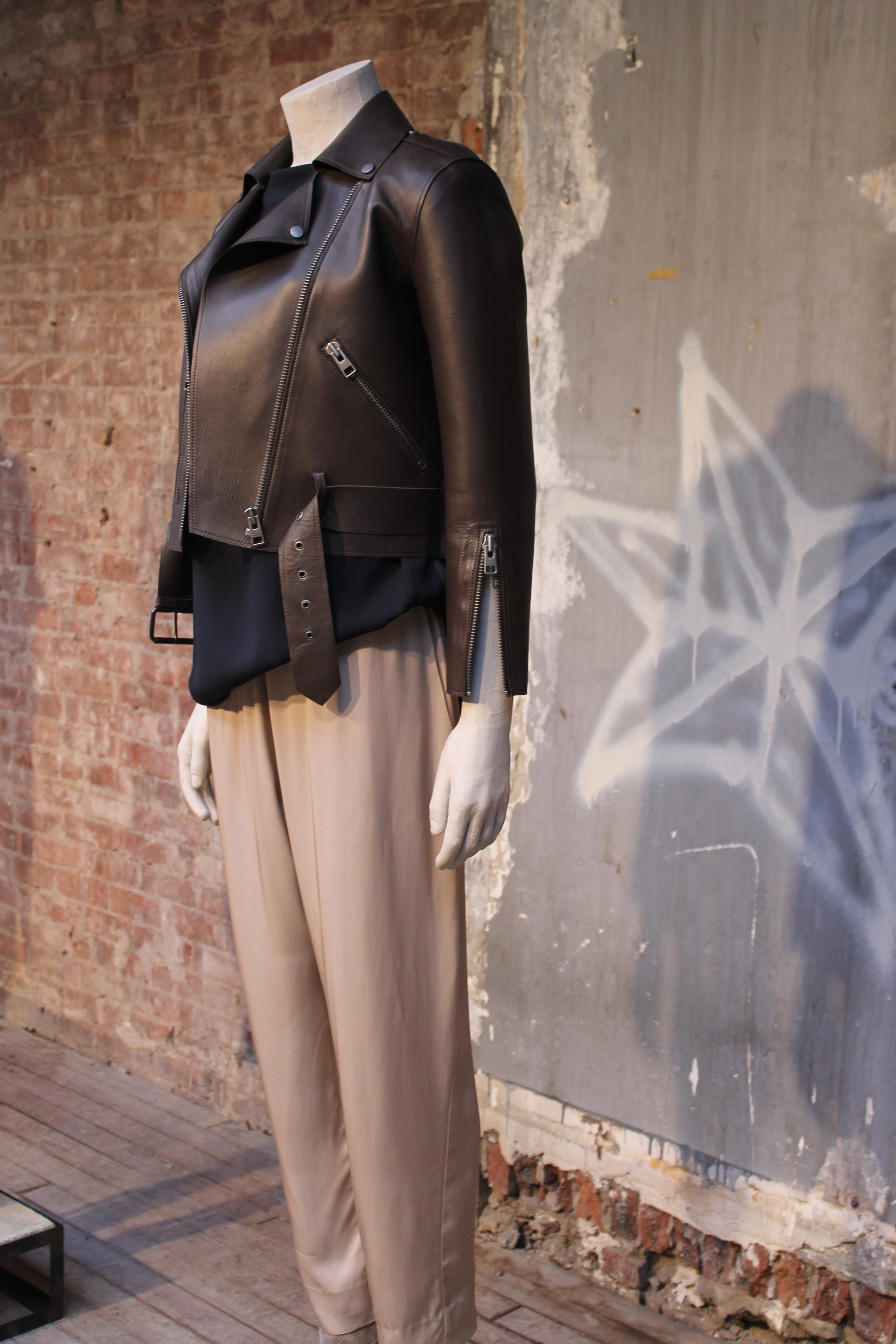 lexi new york fashion week mercedes benz allsaints preview leather dress trousers _ glitterinc.com