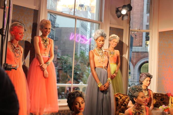 lexi new york fashion week nyc lulu frost neon baroque models tutus tulle _ glitterinc.com