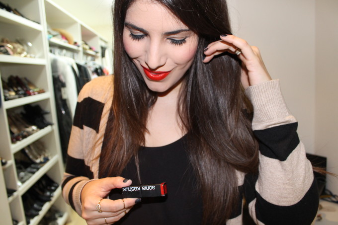 lexi target style fashion red lipstick sonia kashuk