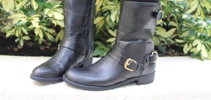 t.j.maxx maxxinista outfit boots black gold fall _ glitterinc.com