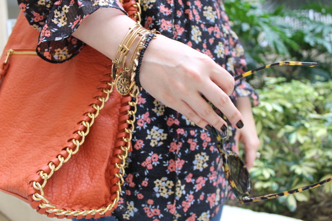 t.j.maxx maxxinista outfit orange purse free people tunic dress sunglasses jeans fall _ glitterinc.com