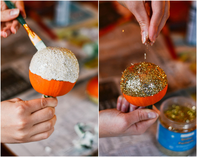 DIY glitter pumpkins halloween how-to _ glitterinc.com