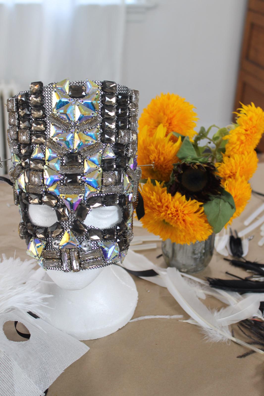 DIY Halloween Bejeweled Mask + A Girls Night Crafting ...
