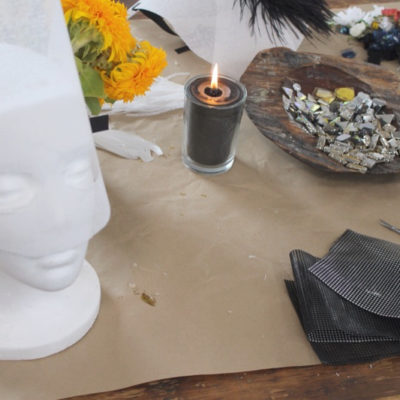 DIY Halloween Bejeweled Mask + A Girls Night Crafting Party