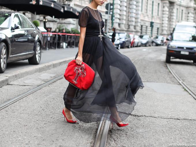 LEEOLIVEIRA-2m50.1 red black sheer dress