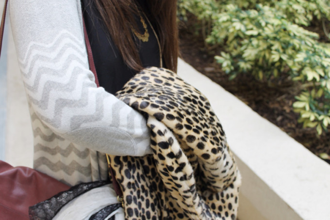 T.J.Maxx Fall Layering #Maxxinista leopard coat chevron cardigan gold necklaces foley corinna wine bag necklaces gold rings knuckledusters over-the-knee boots side _ glitterinc.com