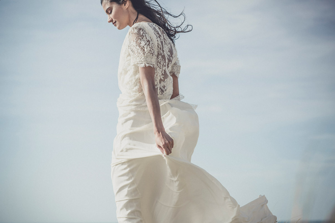 laure de sagazon vintage-inspired wedding dress