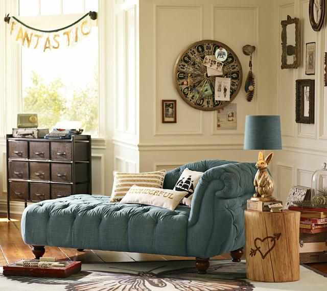 pbteen emily meritt chambra chaise gold sequins pillow fantastic