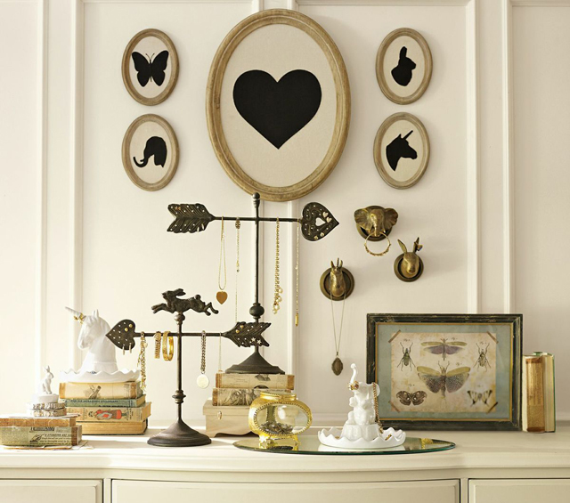 pbteen emily meritt jewelry display animals unicorn