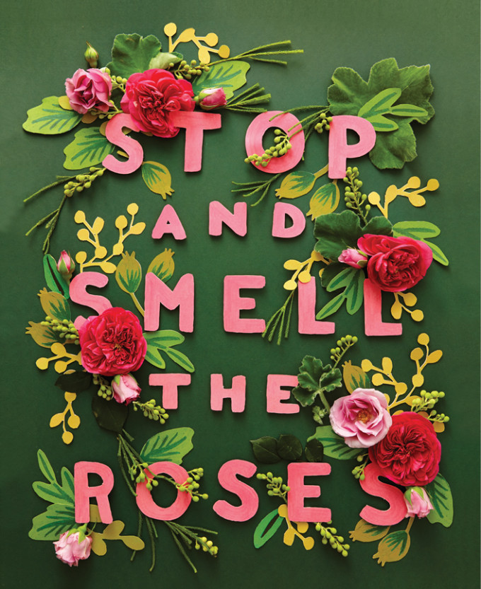 rifle paper - stop and smell the roses
