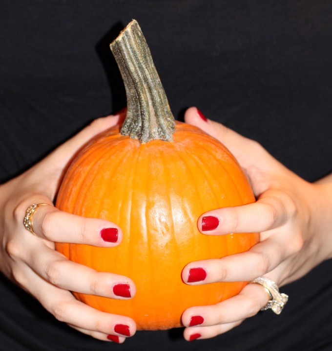 rimmel london classical red manicure pumpkin nails fall lexi 6 _ glitterinc.com