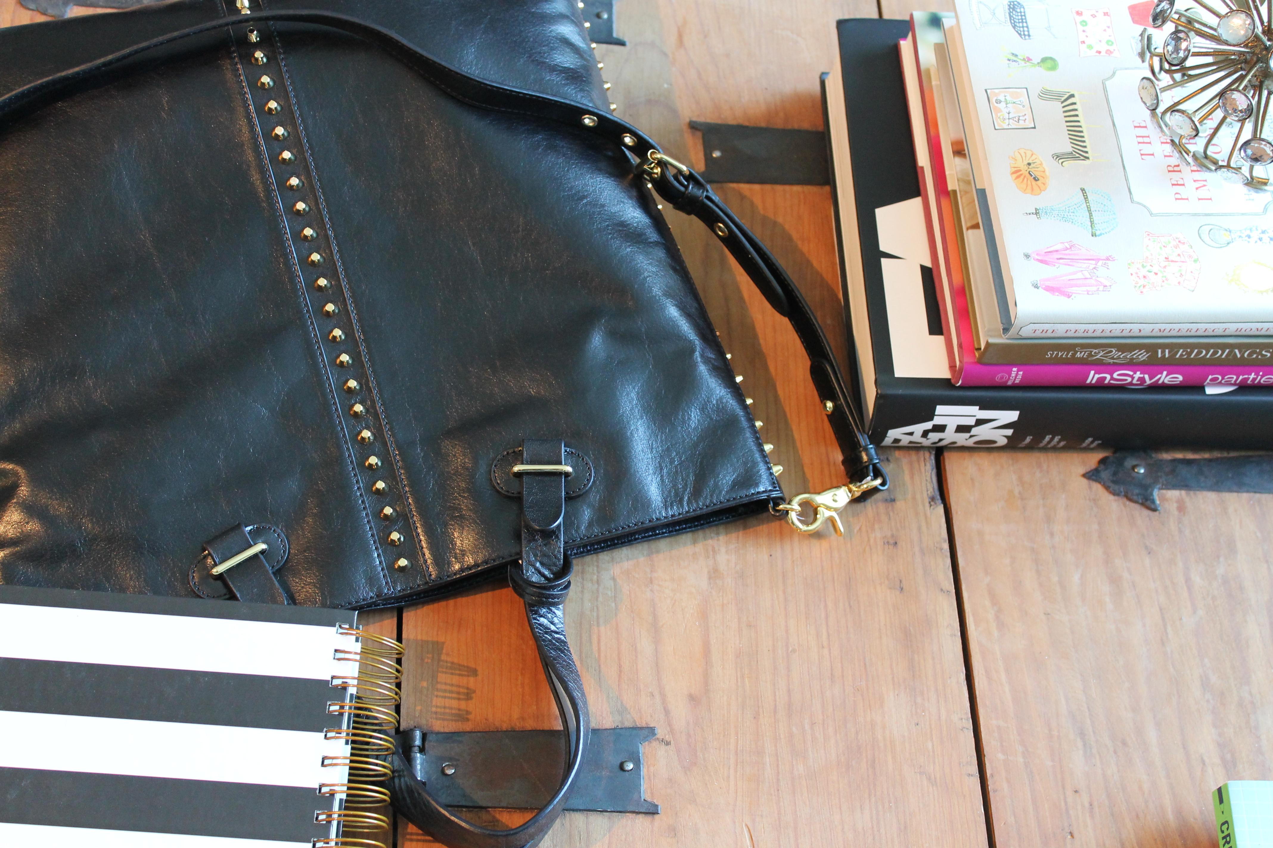 t.j.maxx maxxinista leather fall studded spike black leather bag coffee table _ glitterinc.com