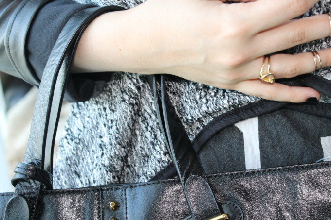 t.j.maxx maxxinista leather fall studded spike black leather bag gold rings _ glitterinc.com