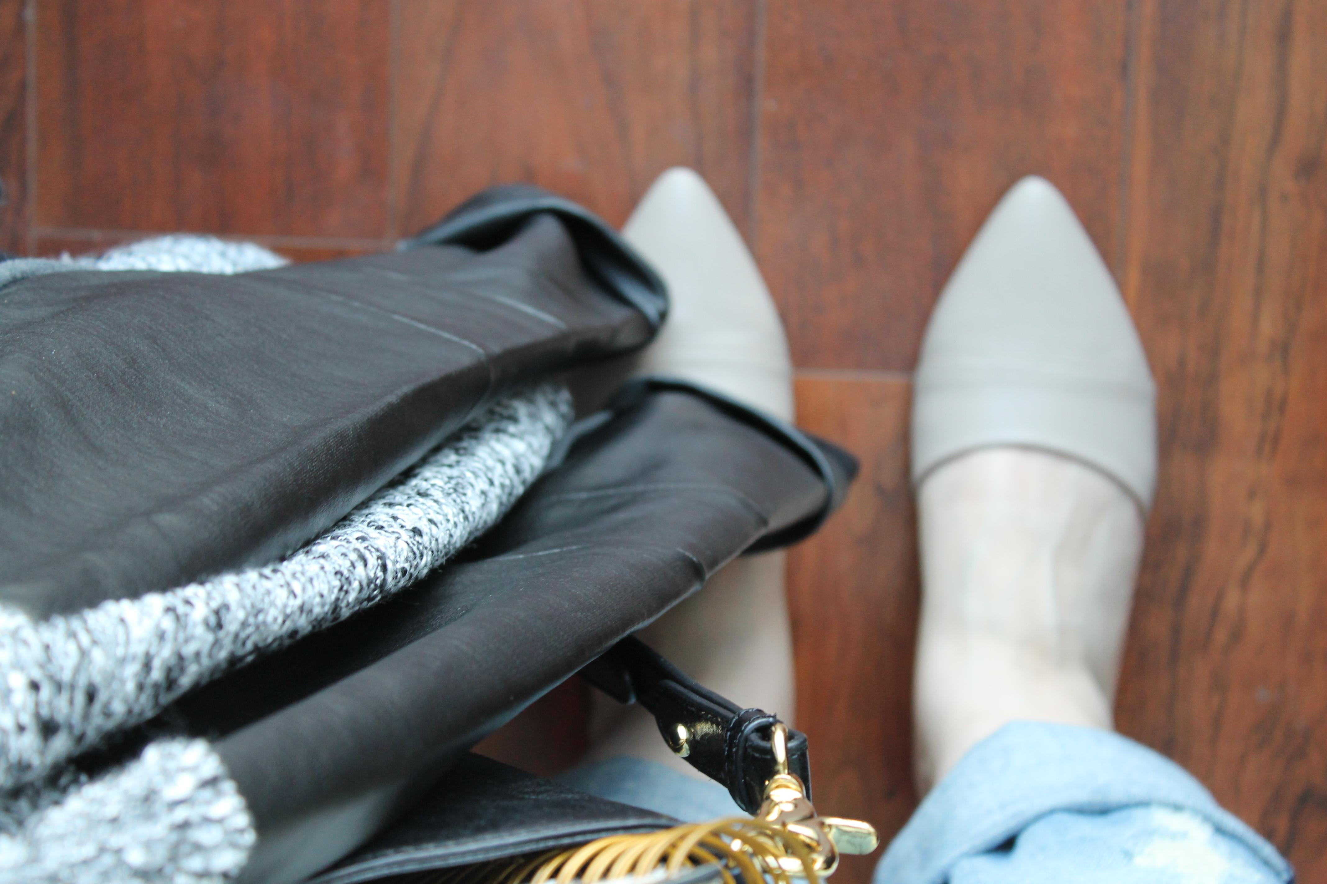 t.j.maxx maxxinista leather fall studded spike black leather bag jacket d'orsay flats nude _ glitterinc.com