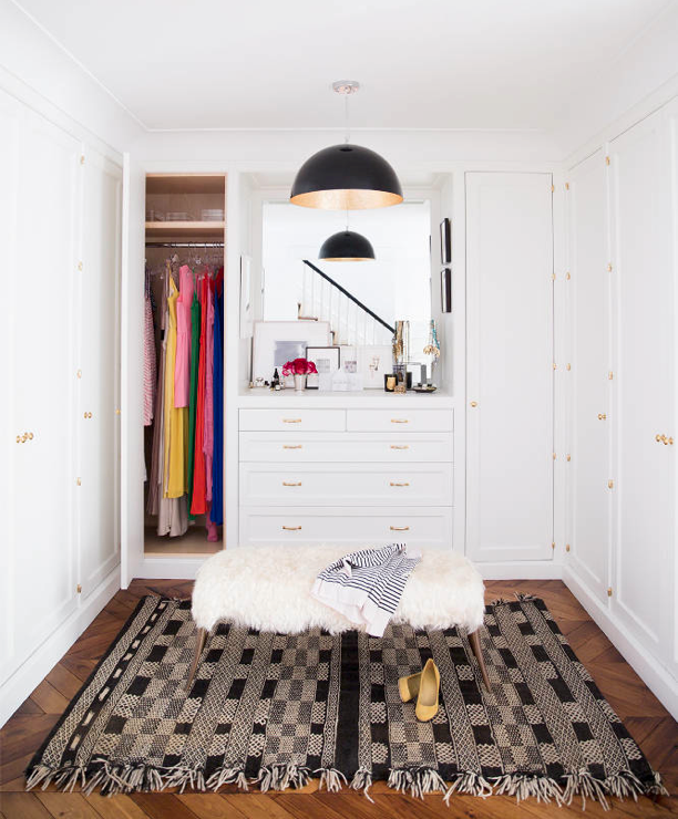 Ali Cayne NYC townhouse home Greenwich Village closet