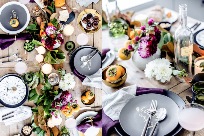 fall thanksgiving tablescape table