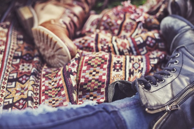 free people boots picnic aztec blanket indie bohemian