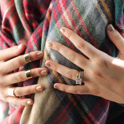 Holiday Metallics: Gilded Gold Nails