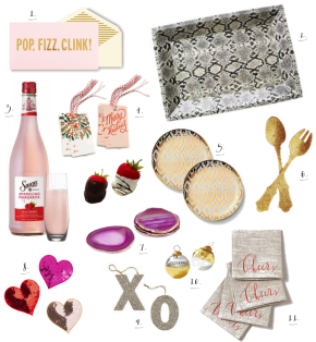 holiday party girls night pop fizz clink gold pink red _ glitterinc.com