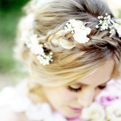 Flowers in Her Hair: Romantic Braided Bridal Style