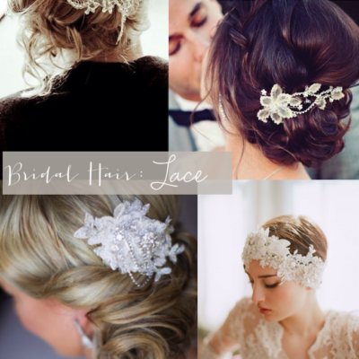 Bridal Style: Lace Hair-Pieces