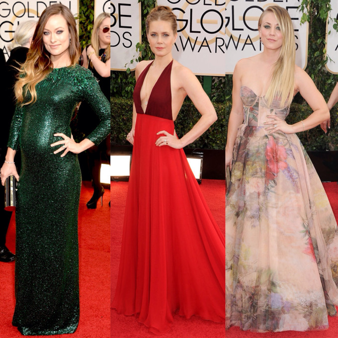 golden globes best dressed olivia wilde sequins amy adams cuoco bustier