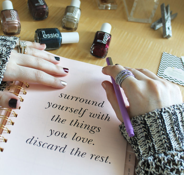jewel-and-gem-tone-manicure-target-sweater-kate-spade-surround-yourself-with-the-things-you-love-discard-the-rest-_-glitterinc.com