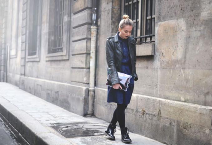 leather-jacket-denim-dress-tights-dr-martens-docs
