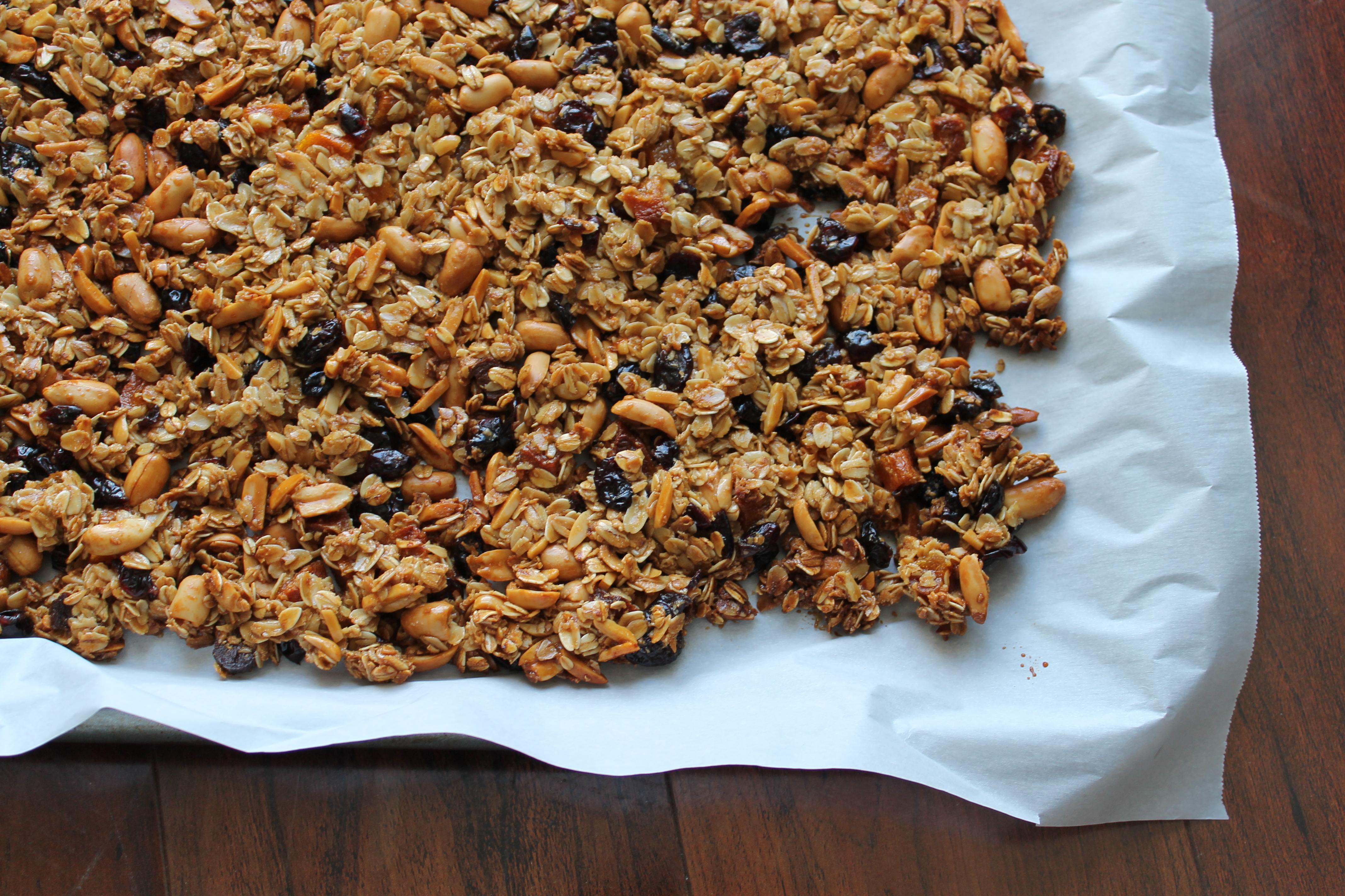 perfect clumpy granola dried fruit nuts recipe _ glitterinc.com