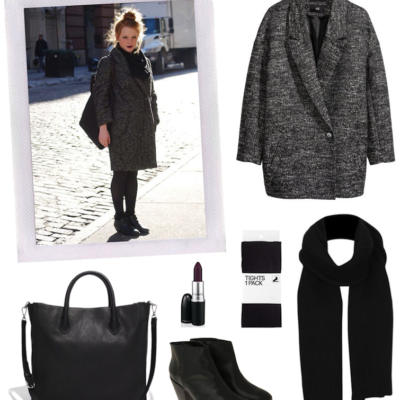 Snag Her Style: Casual Goth Winter Wear