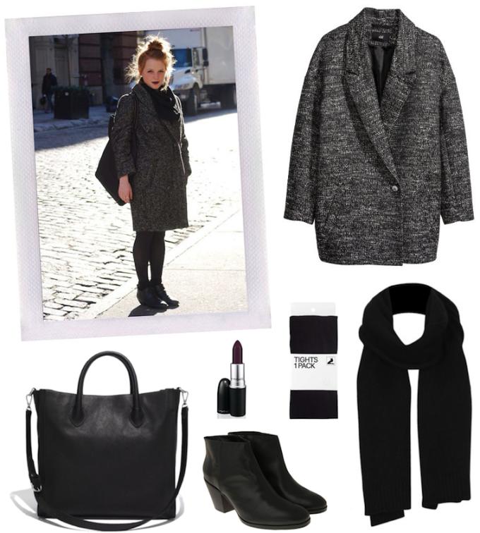 street style fashiom casual goth cocoon coat black boots mac cyber lipstick _ glitterinc.com