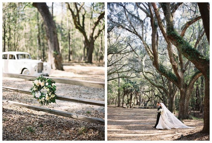 Savannah Wedding Long Sleve Lace Wedding Dress - vintage car