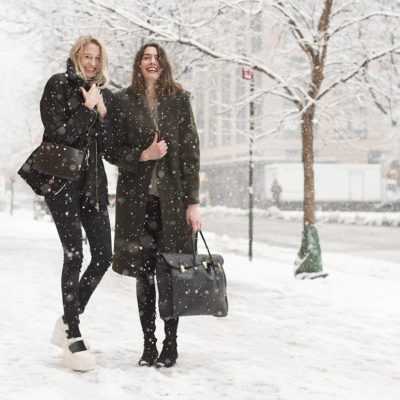 New York Fashion Week, All Covered in Snow