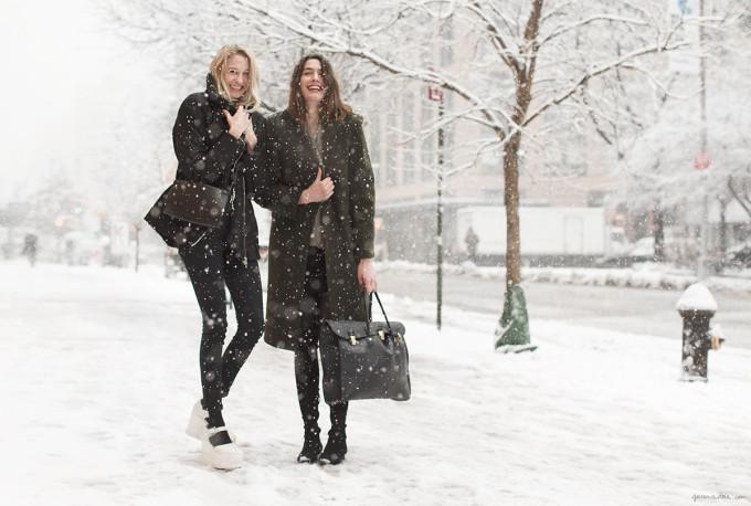 tine-peduzzi_and_luisa-orsini-nyc-fashion-week-snow