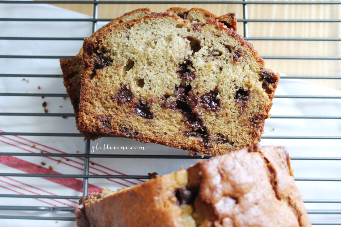 Homemade Milk Chocolate Chip Banana Bread Recipe 5 - glitterinc.com