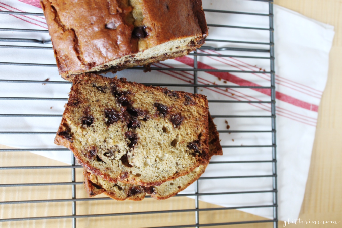 Homemade Milk Chocolate Chip Banana Bread recipe 2 - glitterinc.com