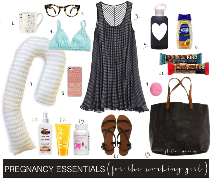 Pregnancy Essentials for the Working Girl New Mom - glitterinc.com
