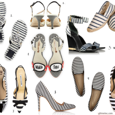 Currently Loving: Black + White Striped Shoes