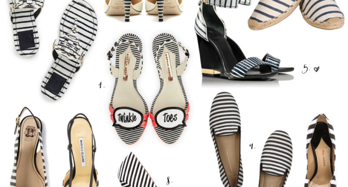 black + white striped shoes - glitterinc.com