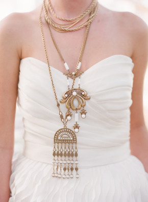 egyptian layered bridal necklaces