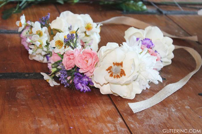 DIY-Floral-Flower-Crown-Ribbon---glitterinc.com
