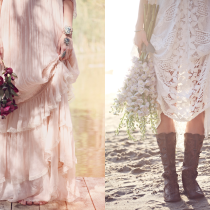 Free People Wedding I Do Shoot - floral crown - boots
