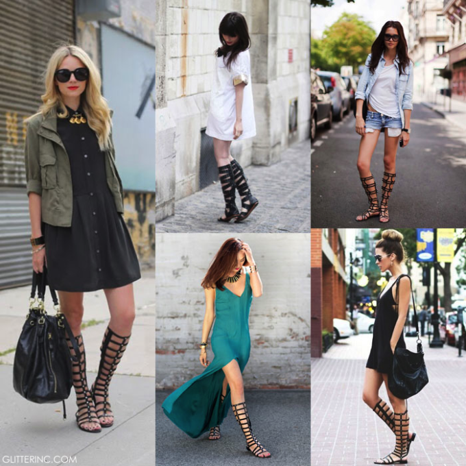 Knee-High-Gladiator-Flat-Sandals-Boots---street-style---fashion